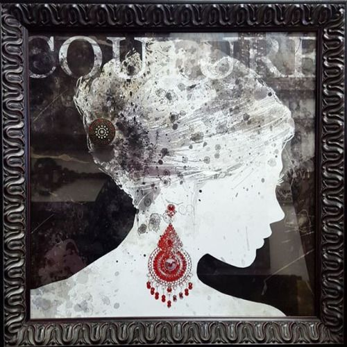 Couture framed and accented with Swarovski Elements  ☎ Call (909) 989-8558 or visit our shop in #RanchoCucamonga to purchase this. #Art #CustomFraming #Swarovski #HomeDecorIdeas