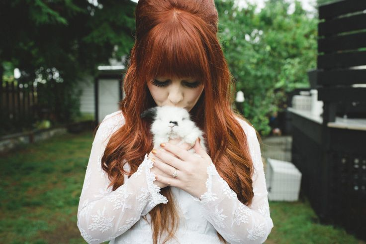 Mystical Mod Wedding with the Bride Channelling Priscilla Presley