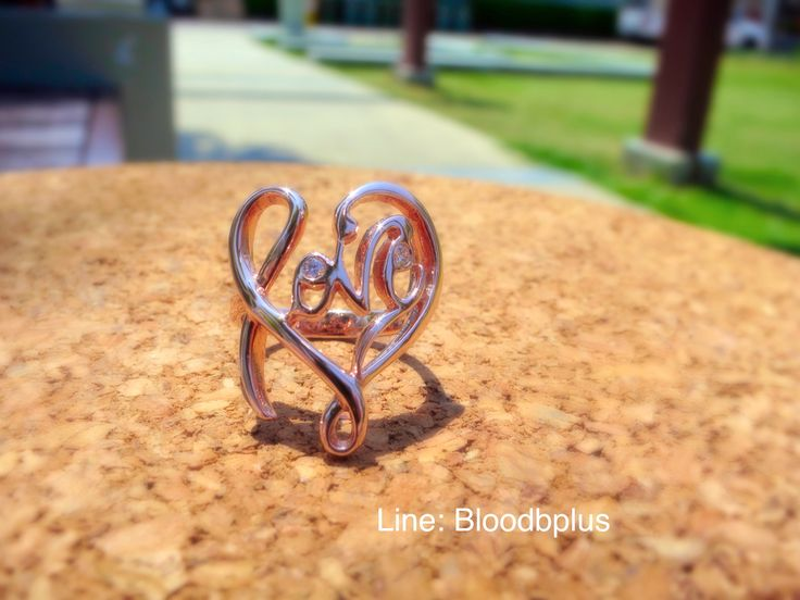 Pink Love ring with diamonds  Inspire: love & heart  #love #ring