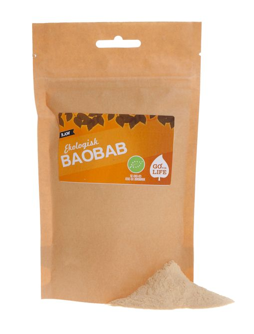 Baobab (Eko & Raw)  Utvunna ur 500-åriga träd i de afrikanska slättmarkerna har baobab länge varit en hörnsten i afrikansk kost.