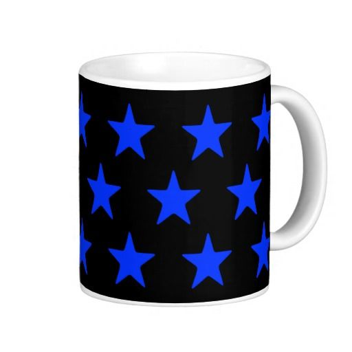 Blue Stars On Black Mug  Perfect for your blue and black home decor  #stars #kitchen #lounge #diningroom #white #blackandwhite #his #hers, #male #female #drink #drinking #black #lounge #diningroom #white #multicoloured #kitchen   #hers #male #female #drink #drinking #colourful #colours #designer #his   #chic #retro #modern #stylish #cute #vintage #style #radiant #happy    #birthday #anniversary #xmas #occasions #beautiful #home #bedroom    #bright #bold #love #blue