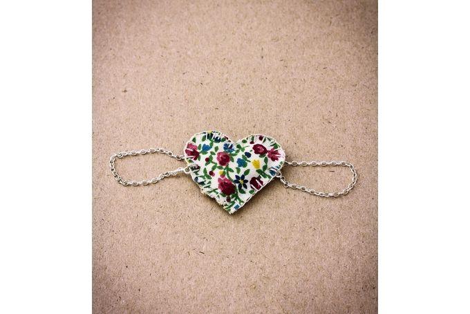 Floral Heart bracelet by Jam Jewellery