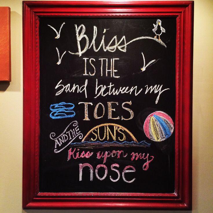 Summer chalkboard lettering