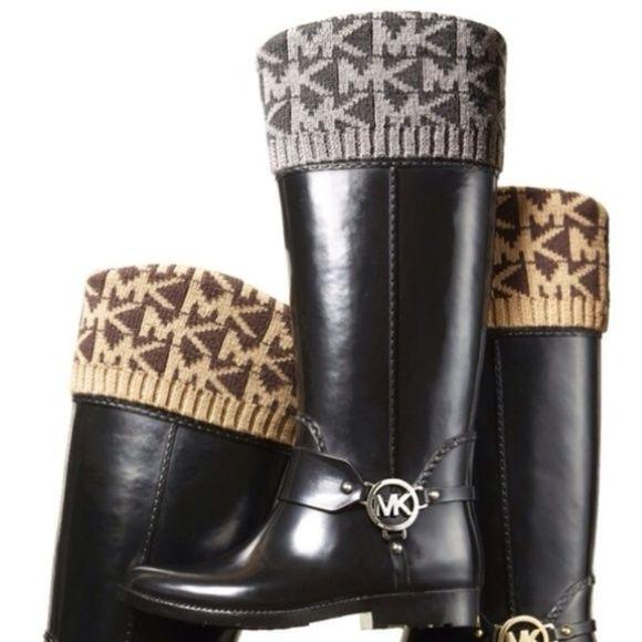 Michael Kors Boots - Michael Kors rain boot cuff sock liners S/M & L/XL