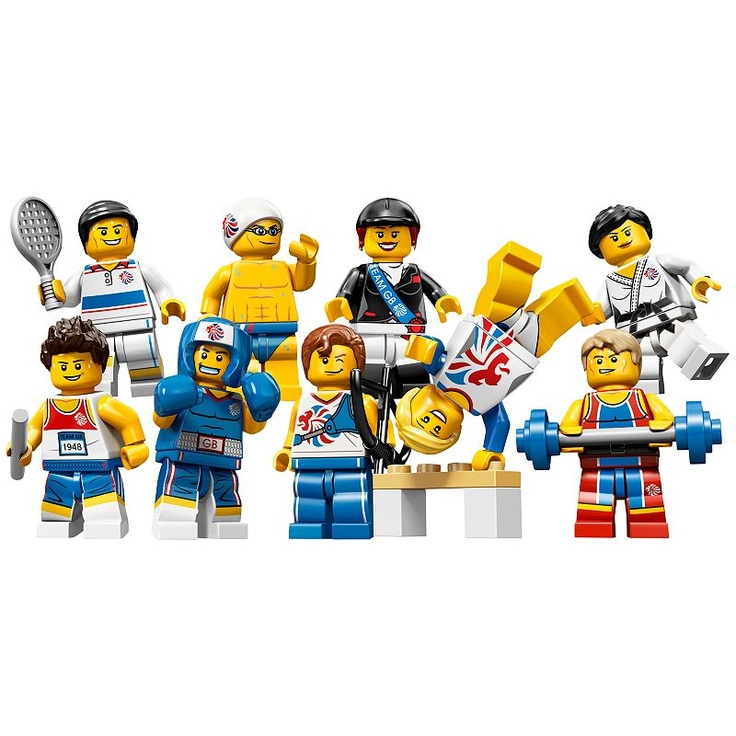 Buy Lego Team GB Mini Figures, Assorted online at JohnLewis.com - John Lewis