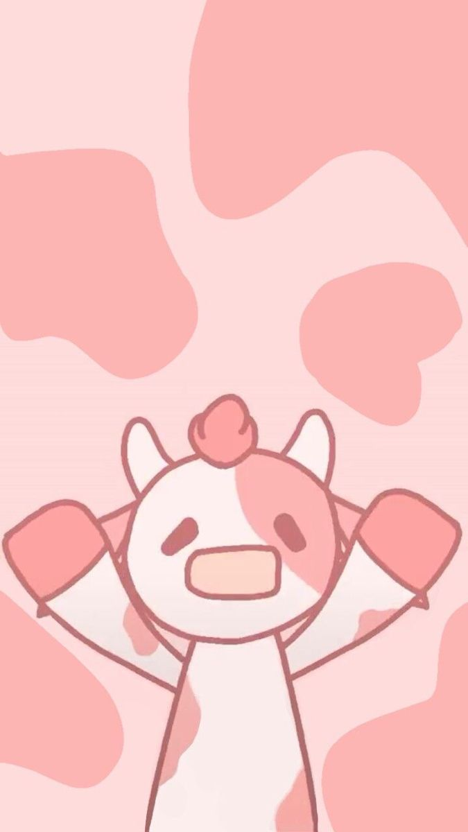 Say Goodbye To Boring Old Cow Print Now We Have Strawberry Cow Anime Wallpaper This Is So Cute And Aesthetic I Cow Wallpaper Cow Print Wallpaper Cow Drawing