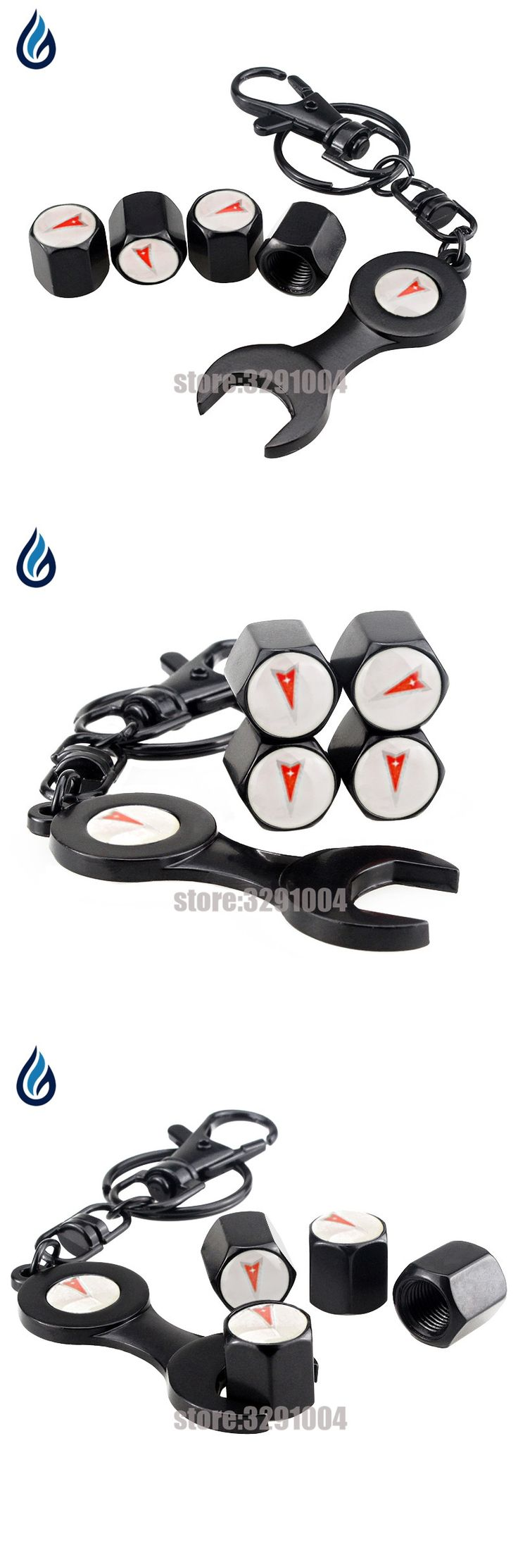 4pcs Car Wheel Tire Valve Caps Cover With Wrench KeyChain For Pontiac GTO Firebird Solstice Sunfire Grand Am Prix Vibe Solstic