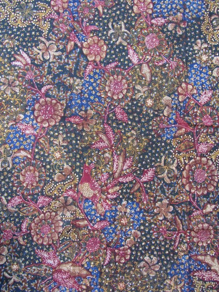 Tiga negeri sekar jagad Lasem. Handrawn n vintage batik from Indonesia