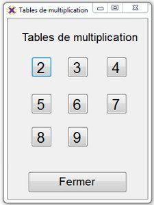 afficher les tables d'additions et de multiplications et la table du diviseur dans le cas d'une division.