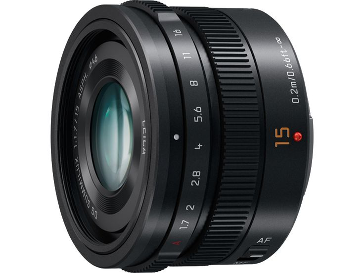 Panasonic LUMIX G Leica DG Summilux 15mm f/1.7 ASPH. Lens (Black) - PAHX015K Features High-Precision, High-Speed AF The inclusion of newly developed stepping motor makes the focusing action smooth and