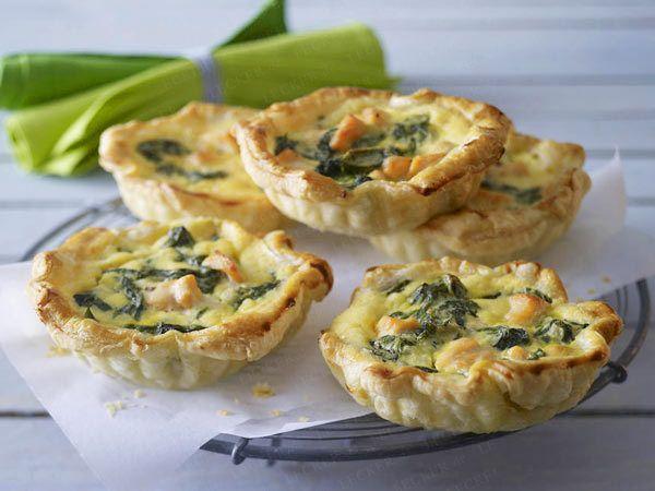 Teatime - süße & herzhafte Snacks zur Teestunde - mini-spinat-lachs-quiche