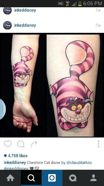 Cheshire cat tattoo                                                                                                                                                      More