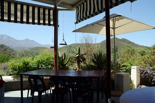the view from Roger Young's Gallery in Kruisrivier, South Africa