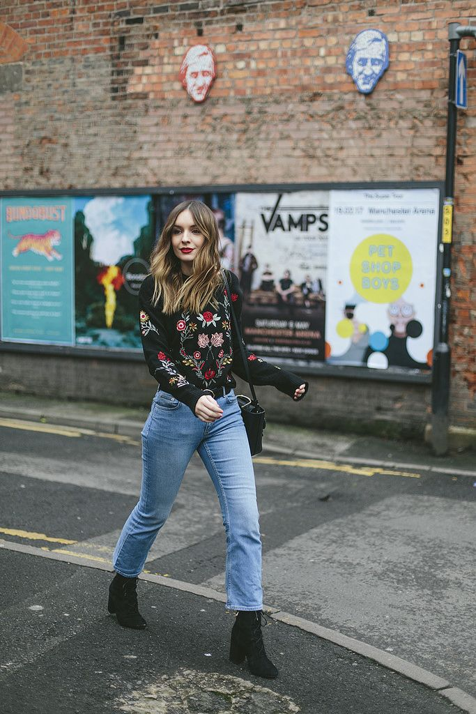 (Jumper: New Look , Bag: & Other Stories , Belt: ASOS  (old but similar here ), Jeans: & Other Stories , Boots: C/O & Other Sto...