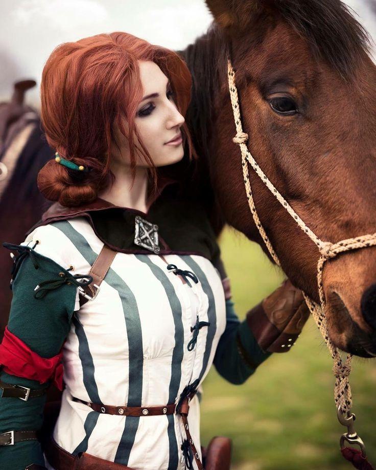 Triss Merigold cosplay by GrumpyCait