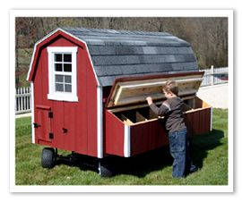 Chicken coup! OH WHEELS so you can move it around your yard, get it out of the way for bbqs or close to the back door for winter! Wonder if it will work for Dog house too?