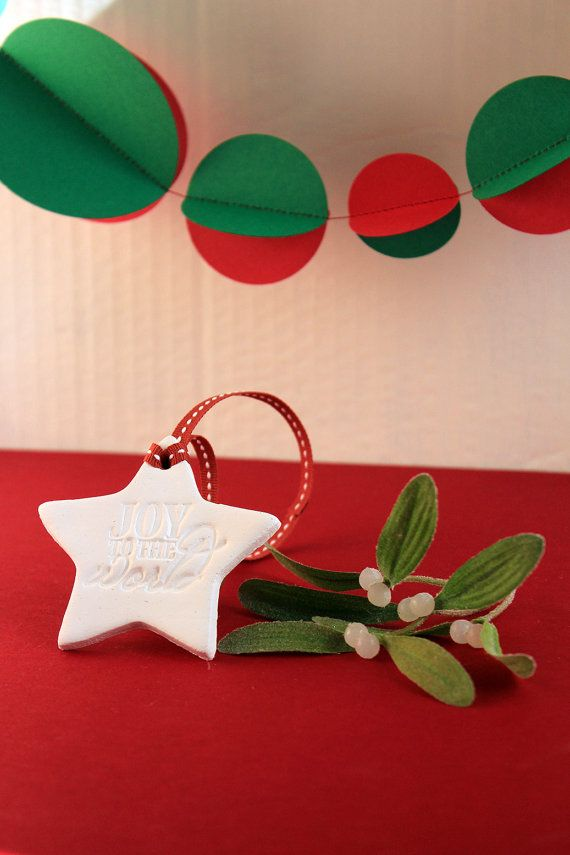 Stamped Star Clay Christmas Tree Ornament by ALittleBitOfLemon