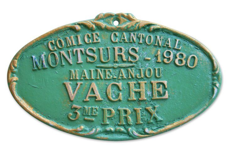 1980French Prize Trophy Plaque