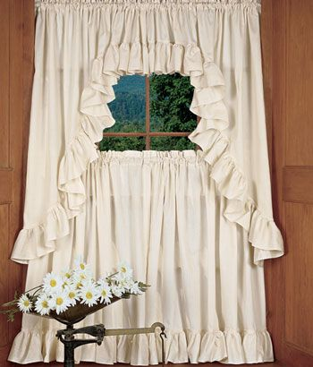17 Best images about Curtains on Pinterest | Ruffles, Kitchen ...