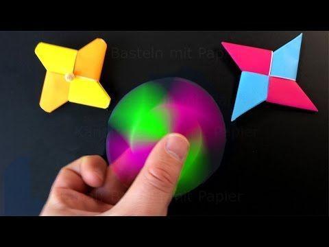 Fidget spinner selber bauen - Origami Fidget spinner basteln mit Papier ohne Kugellager - deutsch - YouTube