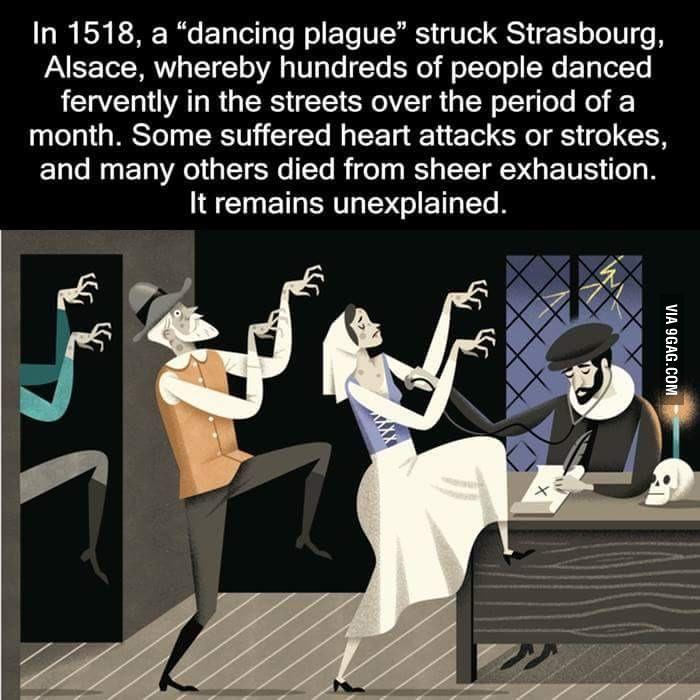 https://en.wikipedia.org/wiki/Dancing_mania http://abnb.me/e/1Bw4yfnlSC