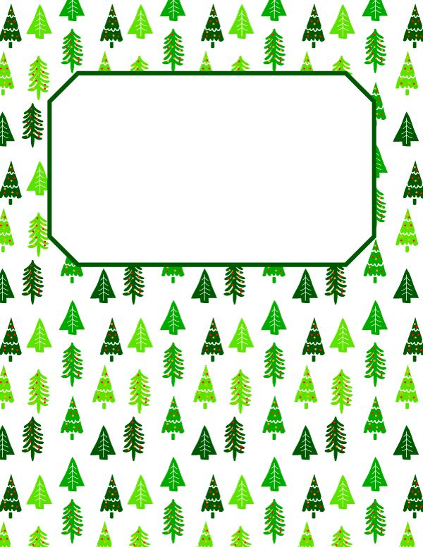 Free printable Christmas tree binder cover template. Download the cover in JPG or PDF format at http://bindercovers.net/download/christmas-tree-binder-cover/