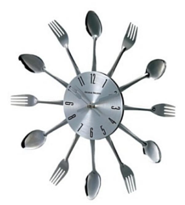 Relógio de parede Garfos e Colheres, super cool, vem ver! http://vintagecool.com.br/loja/relogio-garfos-colheres.html #relogio#colher#garfo