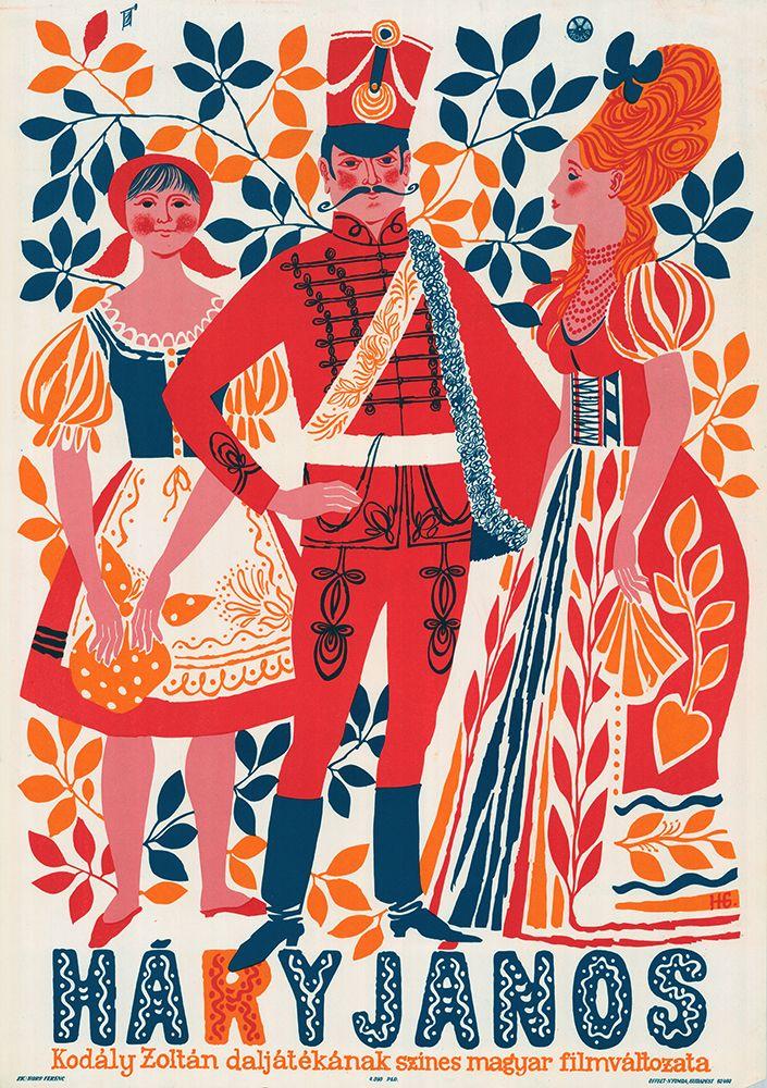 Fantastic poster for Háry János production