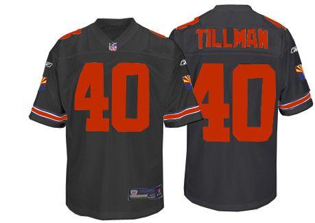 Authentic Pat Tillman Nike Arizona Cardinals Throwback Jersey Supply - Men's Reebok NFL #40 Black