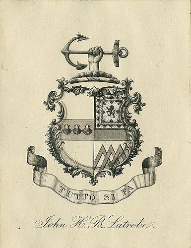 [Bookplate of John H.B. Latrobe] by Pratt Libraries, via Flickr