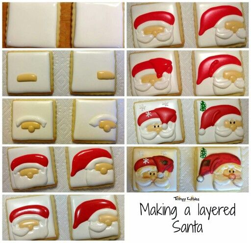 Trilogy Edibles:  Making of Santa Clause square cookies