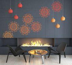 Decorative DIY Mandala Stencil