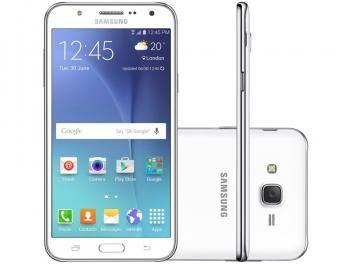 "Smartphone Samsung Galaxy J7 Duos 16GB Branco - Dual Chip 4G Câm 13MP + Selfie 5MP Flash Tela 5.5"""