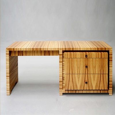 Serge De Troyer Collection Writing Desk Finish: Bamboo - Burnt Red