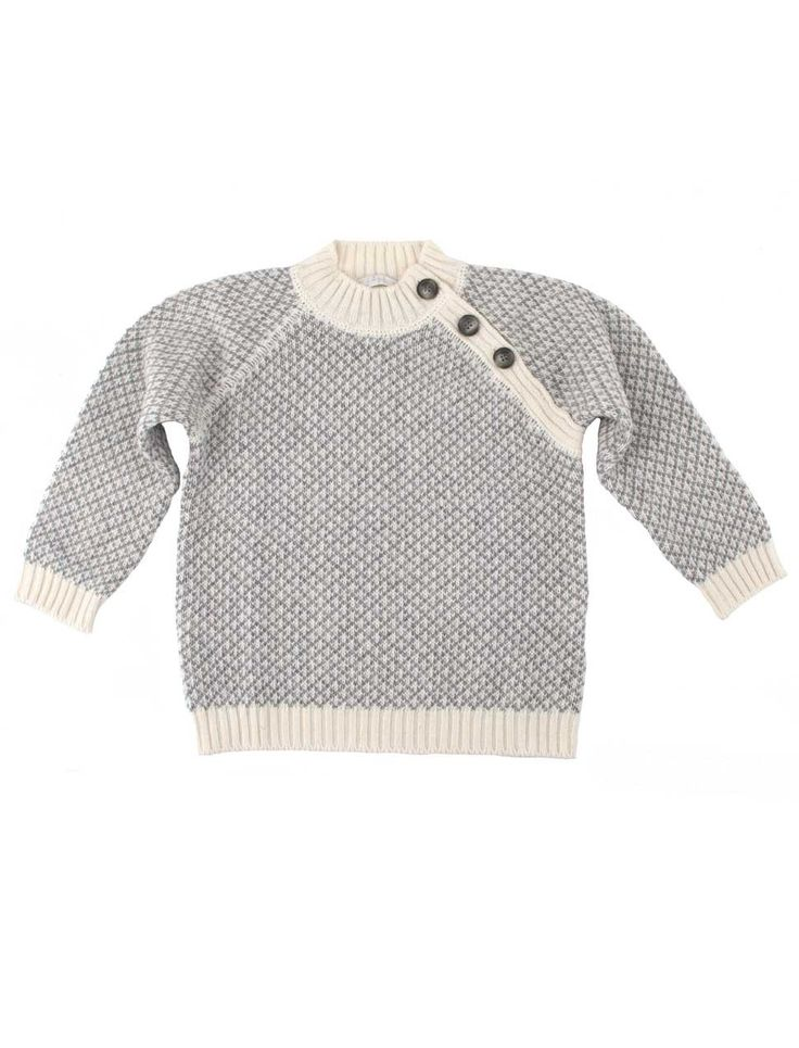 boys jersey with cashmere in Scandinavian design from Il Gufo