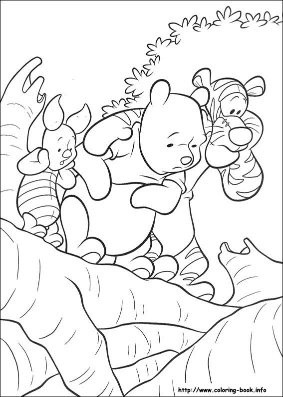 winnies friends piglet and tigger coloring page disney coloring pages winnie the pooh coloring pages - Tigger Piglet Coloring Pages