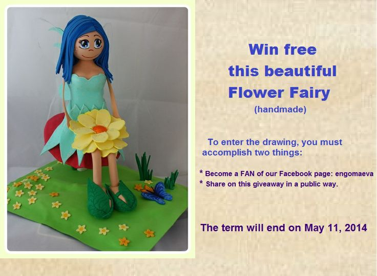 Fairy Flower Handmade with papper eva by hand.  Look for me on Facebook: EN GOMAEVA    and follow the steps to get this free doll.