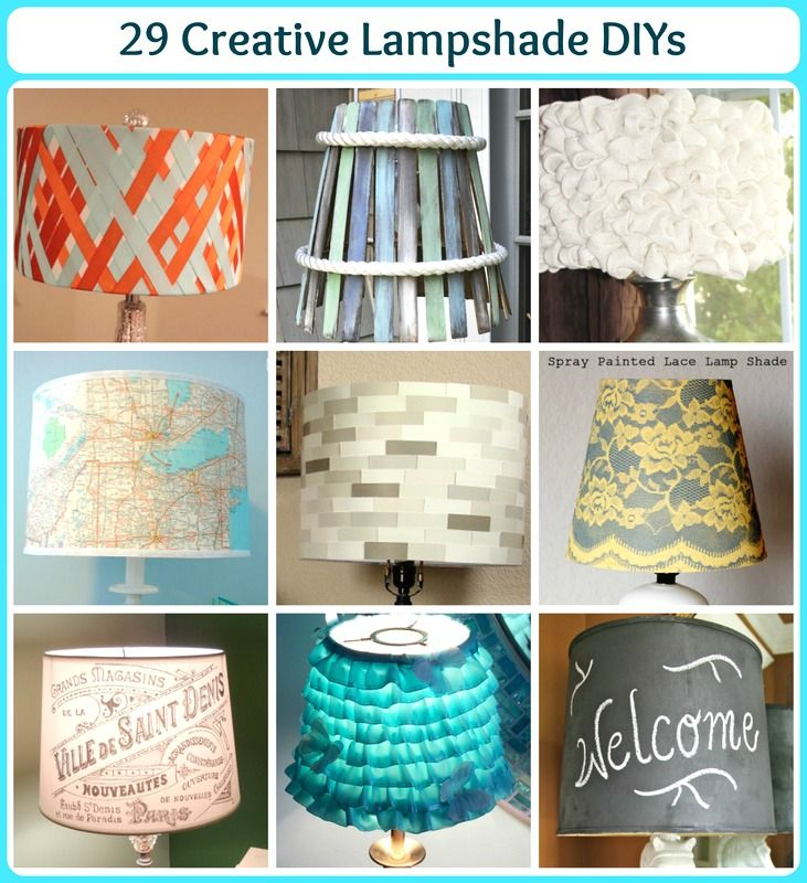 29 Creative Lampshade DIY Projects!