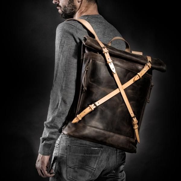 Crossroad Backpack (Dark Grey) #backpack #bag #handcrafted #handmade #hipster #crossroad #style #fashion #unique #limited #accessory #overcoat #wool #army