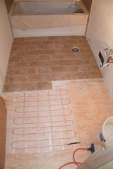 bathroom heated floors are a must for the bathrooms