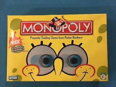 Monopoly Game SpongeBob SquarePants Edition 100% Complete Free Shipping!