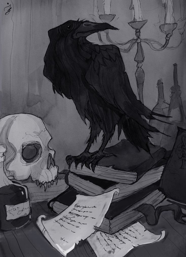 Once upon a midnight dreary by IrenHorrors.deviantart.com on @DeviantArt