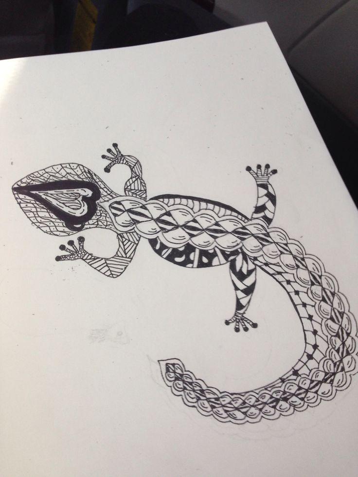 Zentangle animal art patterns