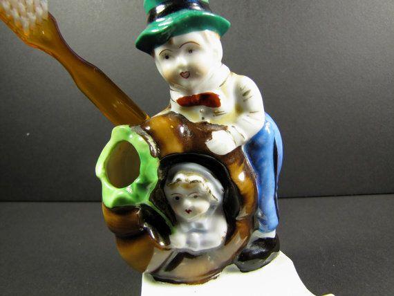 Victorian Toothbrush Holder Vintage Peter by KLBVintageWares