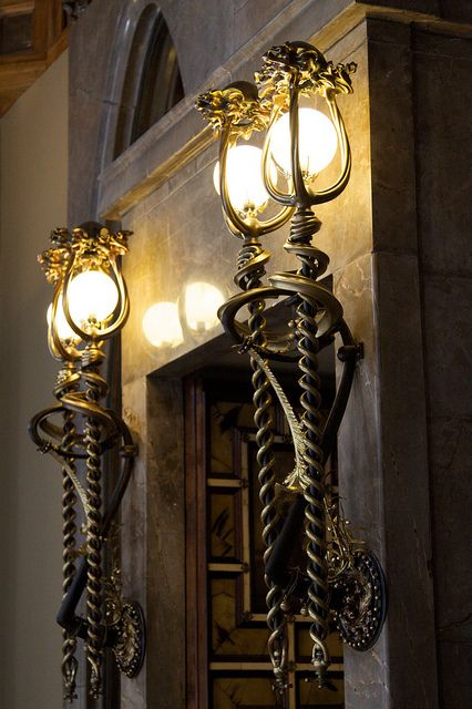 Lamps. Palau Güell. Antoni Gaudi. Barcelona, Spain. 1886-8