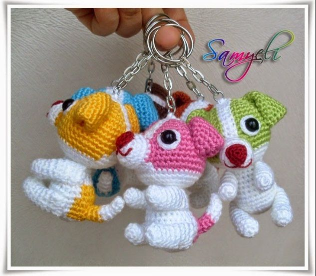 KÖPEK ANAHTARLIK TARİFİ DOG KEYCHAİN FREE PATTERN    TARİFTEKİ KISATLMALAR /ABBREVIATIONS mr (magic ring) / sihirli hal...