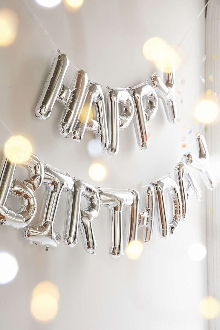 Happy Birthday Metallic Party Balloon Kit—Urban Outfitters