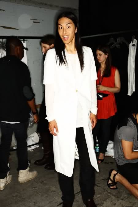 Backstage at Rick Owens, sonnyphotos