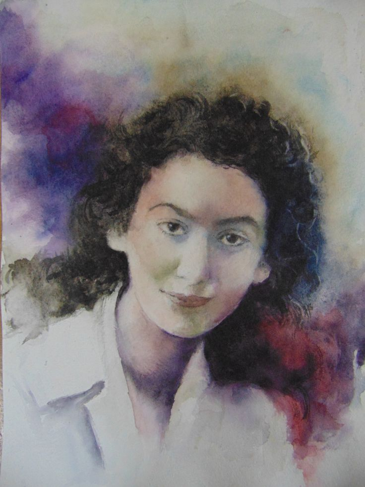 Iulia Halaucescu ( Romanian Watercolor painter 1924-2007), Watercolor 20x30