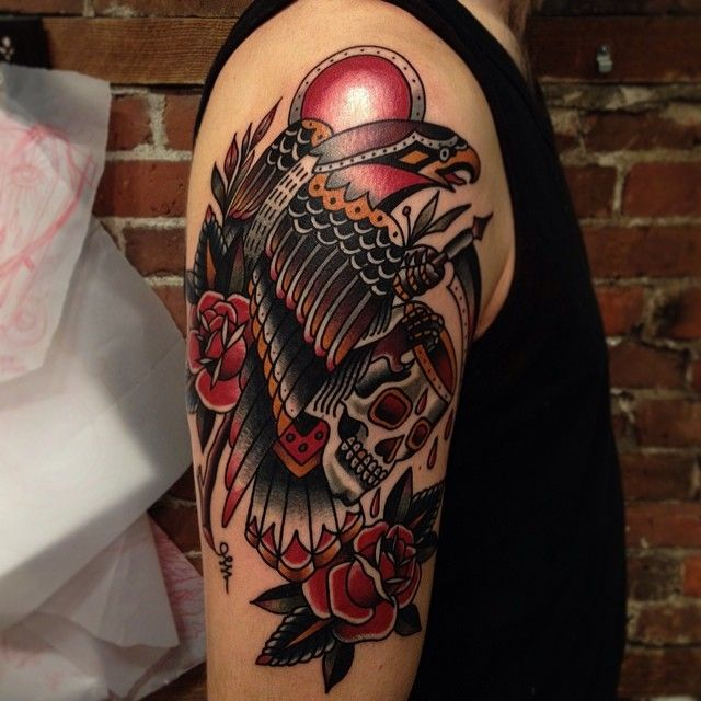 American Traditional Skull And Eagle: 1752 Best Images About Traditional Tattoo On Pinterest